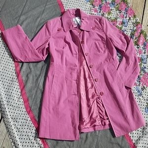 *NEW! *NWT* ANN TAYLOR LOFT Pink Modern Trench, S